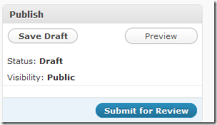 Post Status – Pending or Draft
